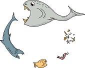 Ocean Food Chain Cartoon