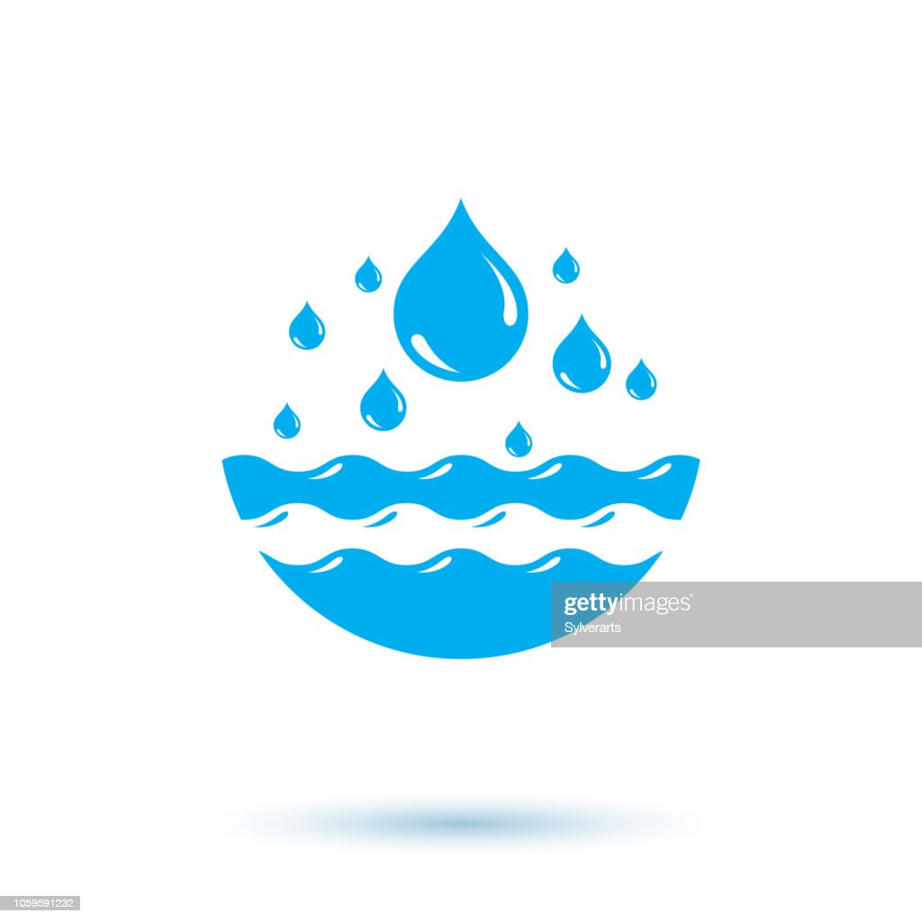 Ocean freshness theme vector illustration for use as marketing design symbol. Body cleansing concept.