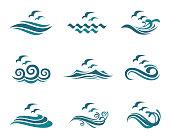 ocean icon set