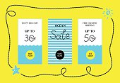 Ocean Sale Web Banners Set