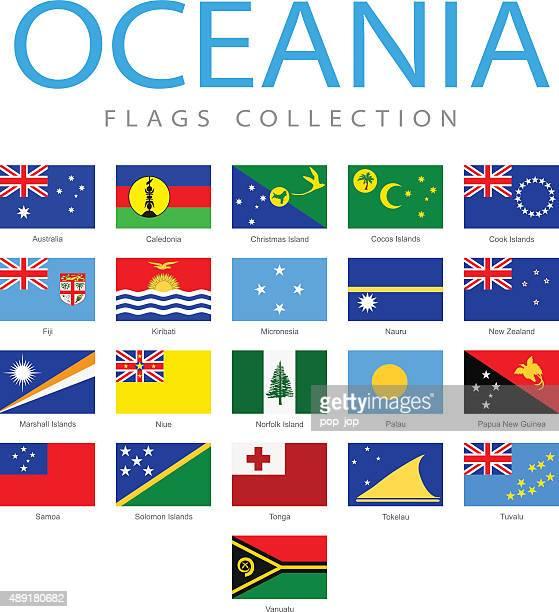 Océanie drapeaux-Illustration