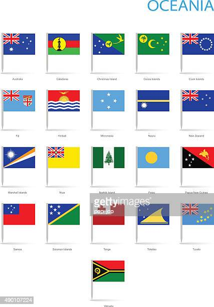 Oceania - Flat Flag Flags - Illustration