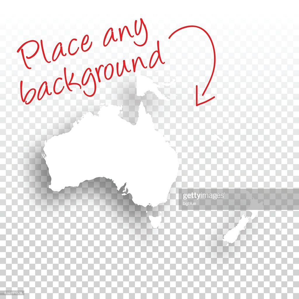 Oceania Map for design - Blank Background