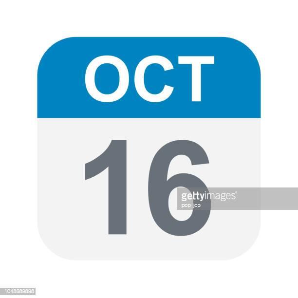 October 16 - Calendar Icon