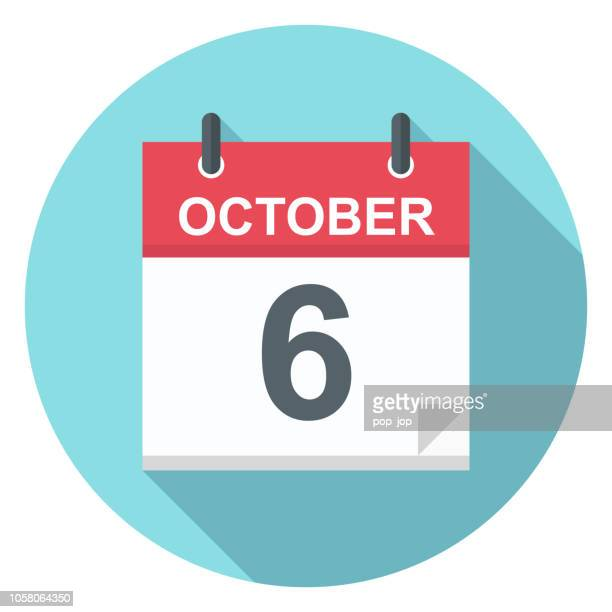 6. Oktober - Kalender-Symbol