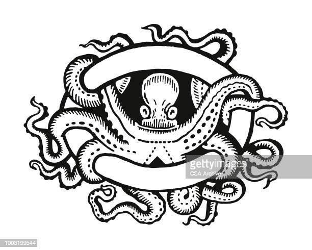 Octopus Entwined in a Banner