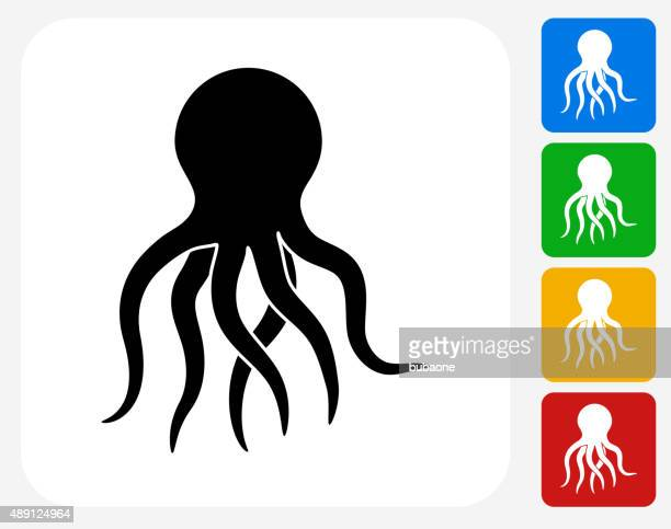 Octopus Icon Flat Graphic Design