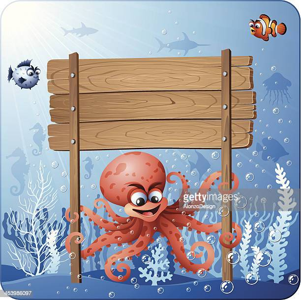 Octopus with Sign
