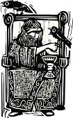 Odin on Throne