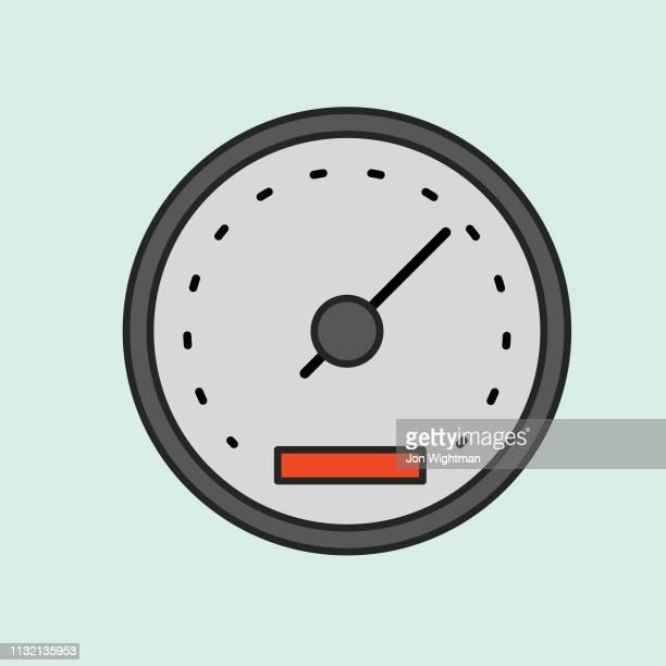 odometer - automotive icon - odometer stock illustrations, clip art, cartoons, & icons
