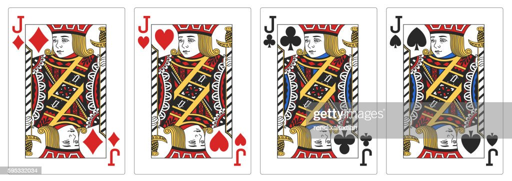 4 of a kind Jacks poker playing card