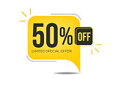 50% off limited special offer banner