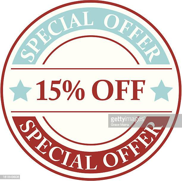 15% off sign - VECTOR