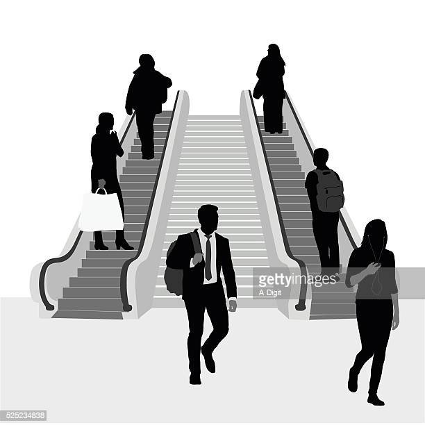 491 Escalator Stock Illustrations And Clipart Getty Images
