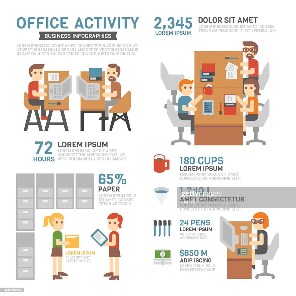 Office Activity Infographics