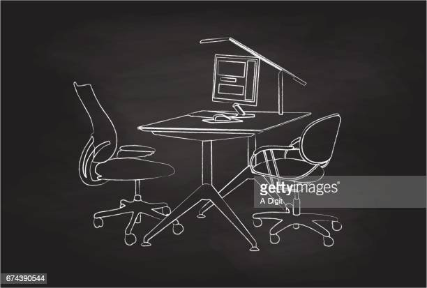 office after hours - office cubicle stock illustrations, clip art, cartoons, & icons