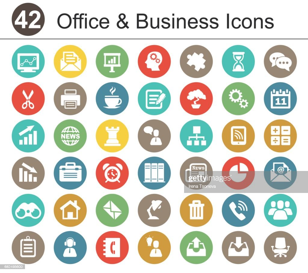 Office and Bisiness Icon Set