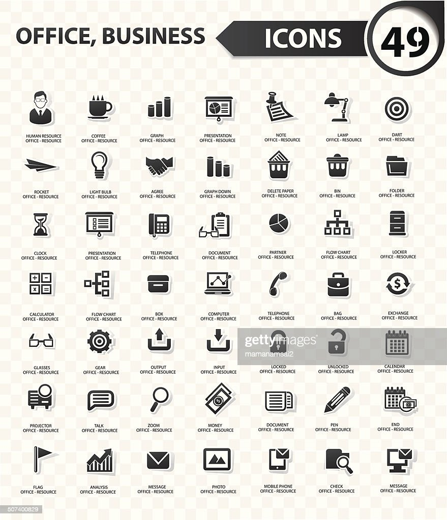 Office and business concept,Black version