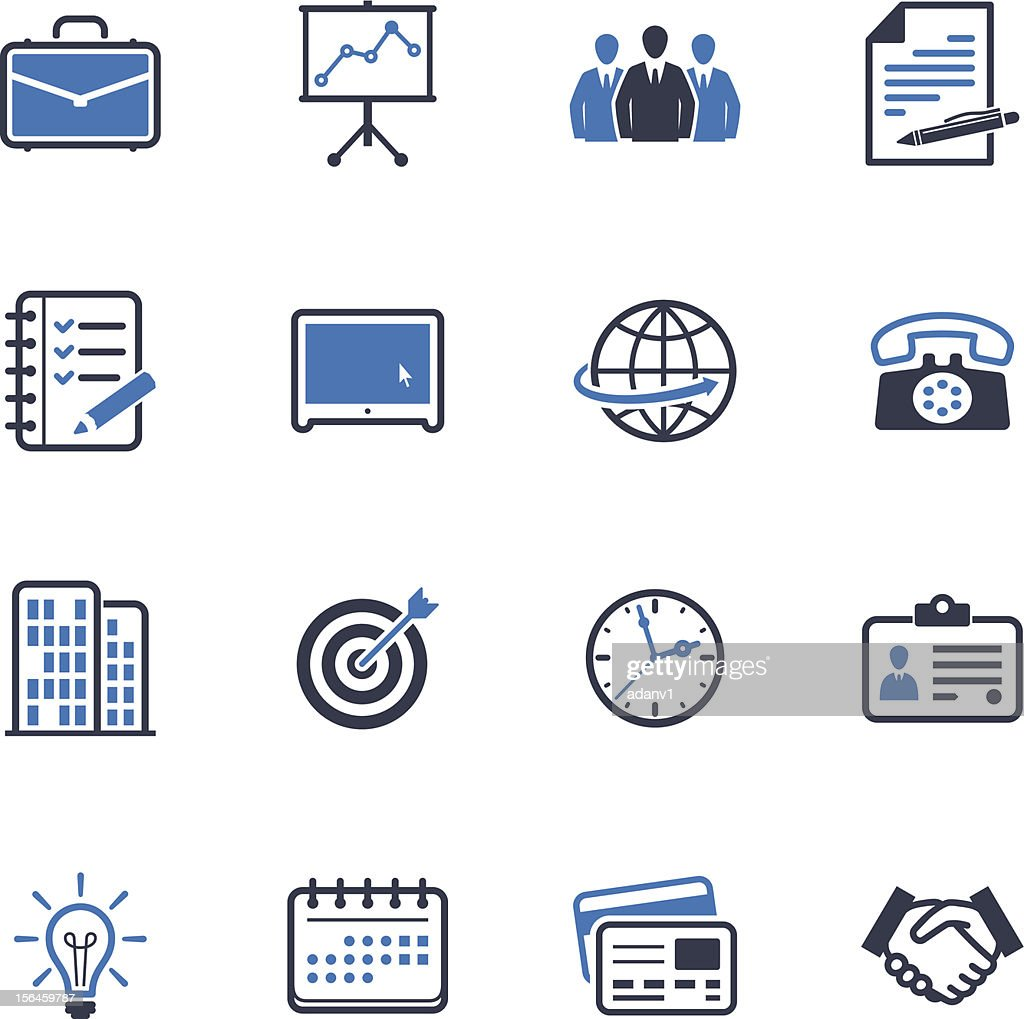 Office and Business Icons - Blue Series
