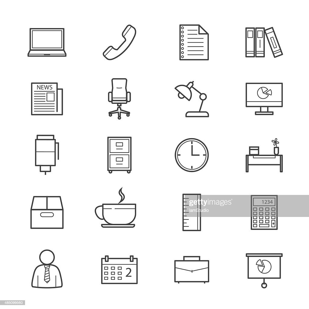 Office and Business Icons Line