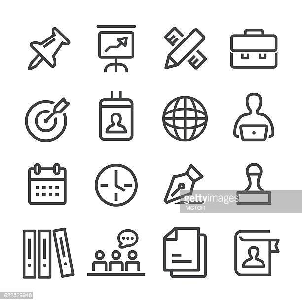 Office and Business Icons Set - Line Series