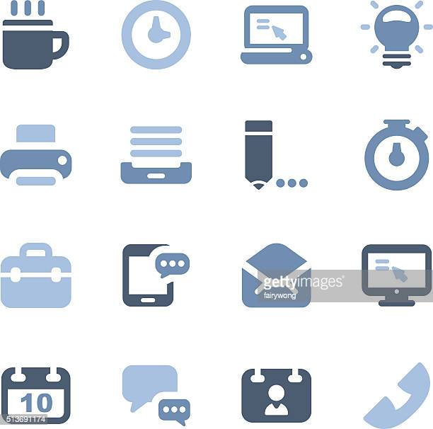 Icone di affari e ufficio