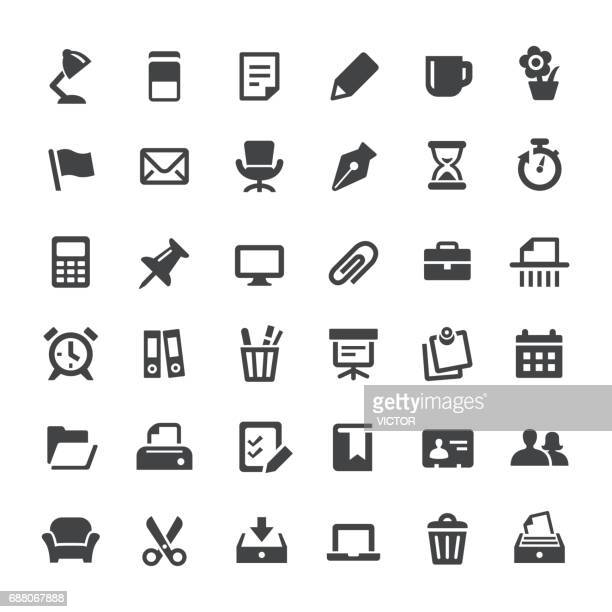 office and paperwork icons - big series - paper clip stock illustrations, clip art, cartoons, & icons