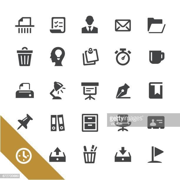 事務所との書類アイコン - シリーズを選択します - 発送書類入れ点のイラスト素材/クリップアート素材/マンガ素材/アイコン素材