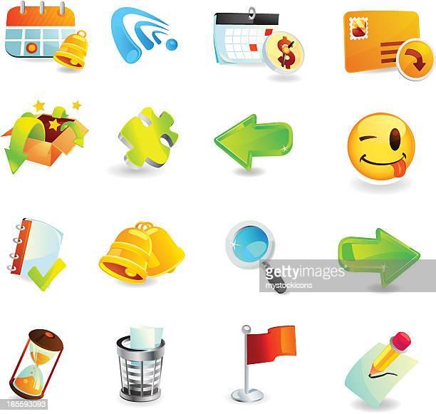 ilustrações, clipart, desenhos animados e ícones de escritório e ícones web - tempo é dinheiro