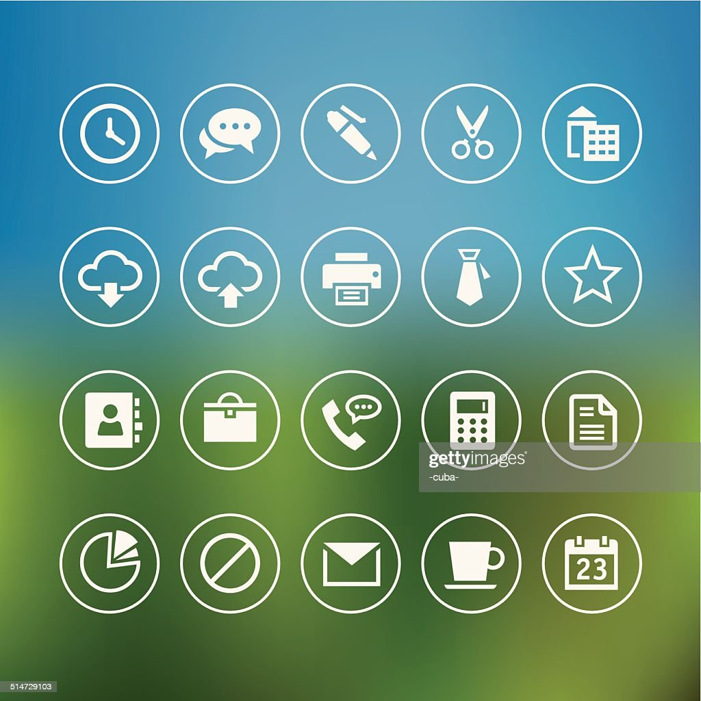 Office And Web Light Icons