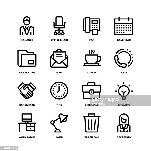 illustrations, cliparts, dessins animés et icônes de bureau et les icônes de ligne au travail - homme d'affaires