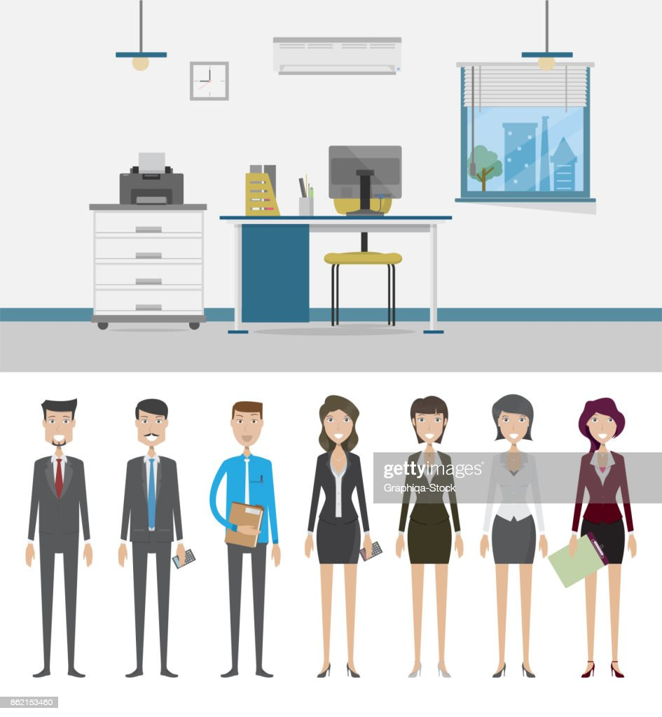 Office Background and Character Concept