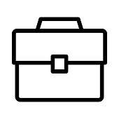 office bag Thin Line Vector Icon