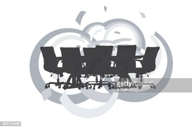 office boardroom desk - conference table stock illustrations, clip art, cartoons, & icons