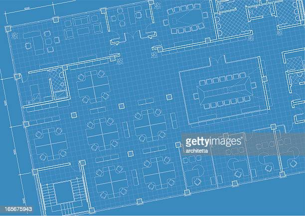 office building architectural plan - architect stock illustrations