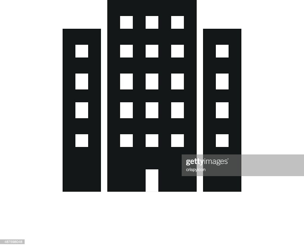 Office Building icon on a white background.