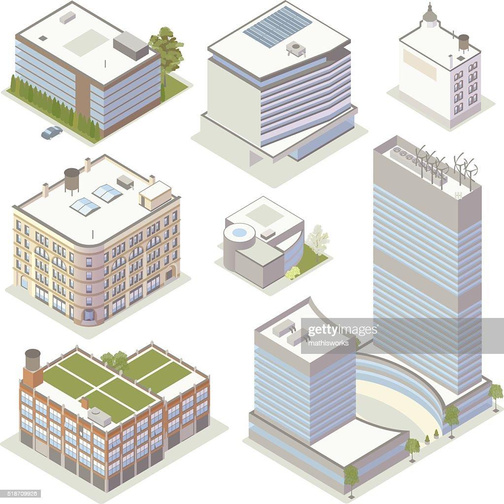 Office Building Illustrations : Vector Art