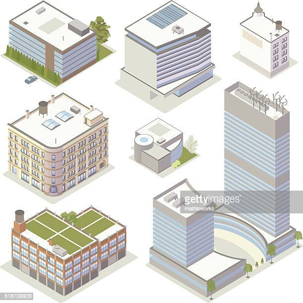 office building illustrations - small business stock illustrations