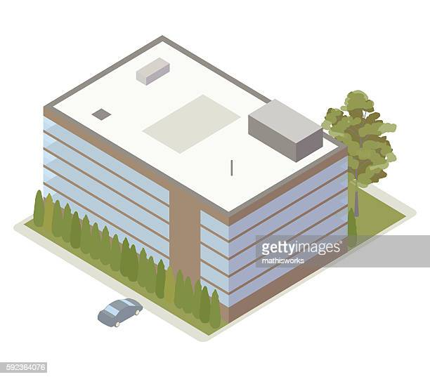 Office building isometric illustration