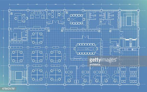office building plan blueprint