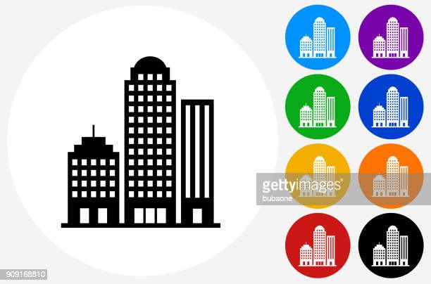 office buildings. - skyscraper stock illustrations