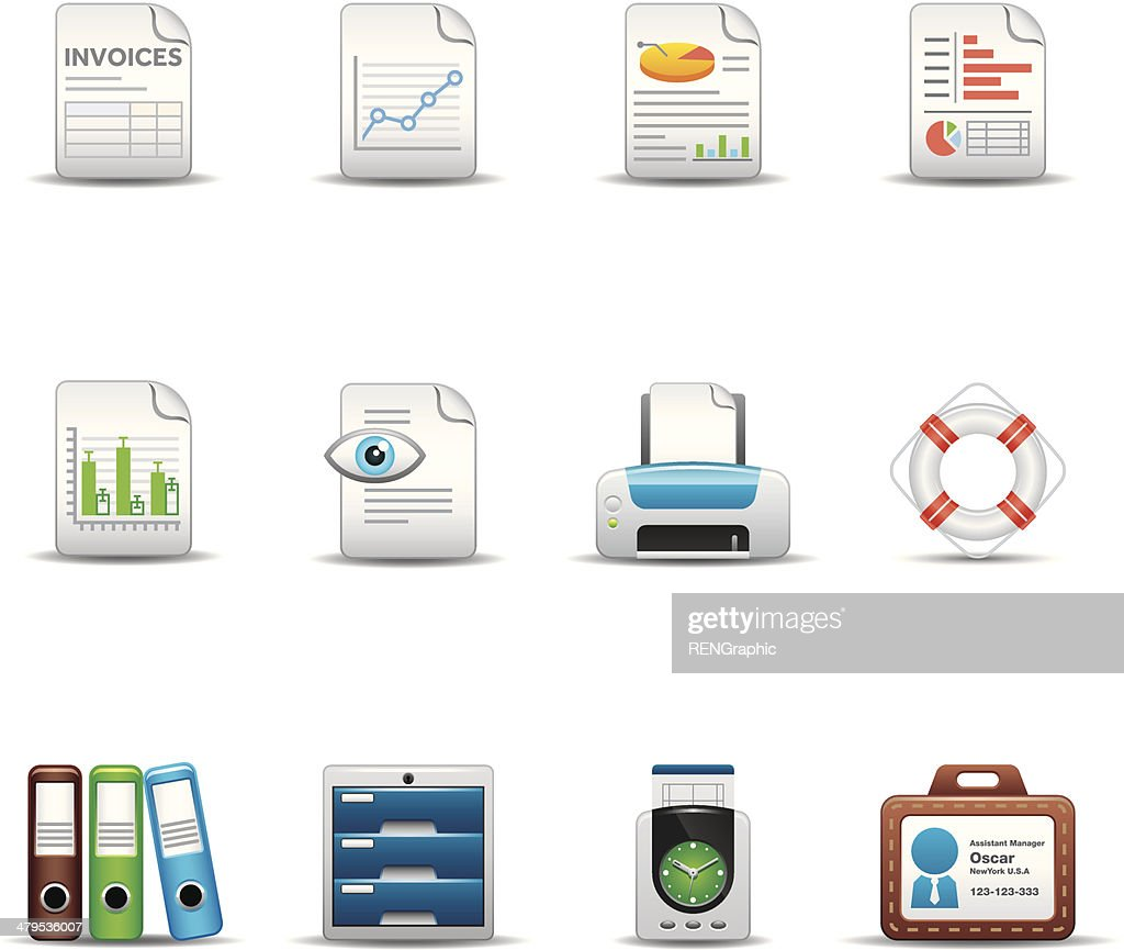 Office & Business Icon Set | Elegant Series