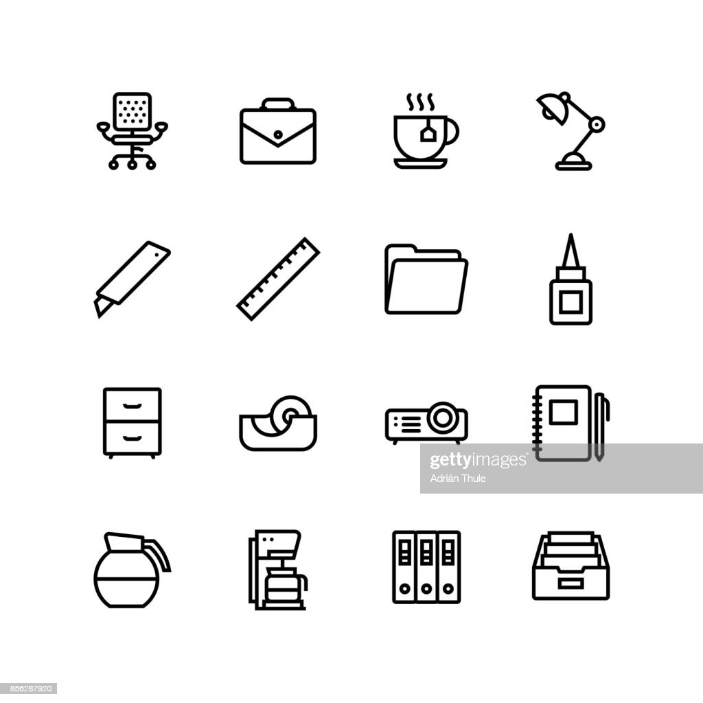 Office Business Icon Set