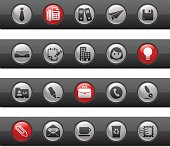Office & Business Icons // Button Bars Series