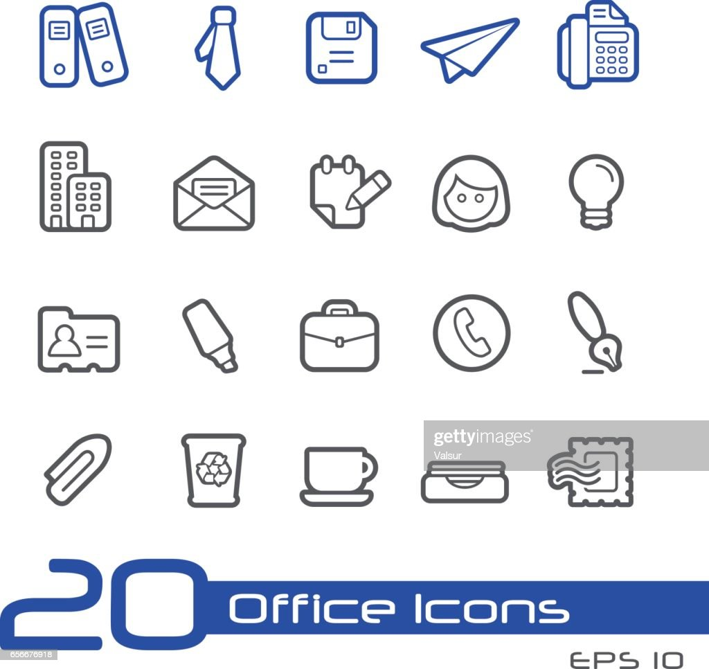 Office & Business Icons - Line Series