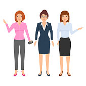Office Businesswoman Outfit Character Illustration
