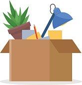 Office cardboard box