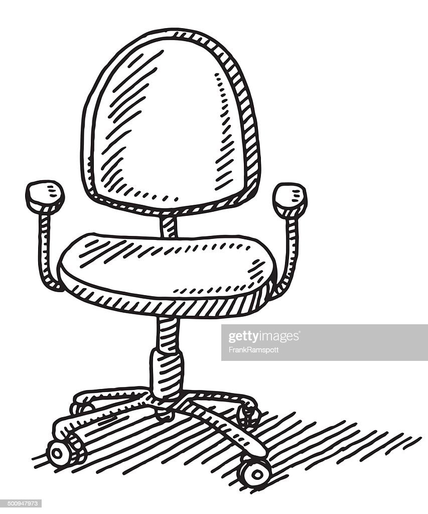 Office Chair Drawing : stock illustration