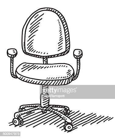 Office Chair Drawing Vector Art