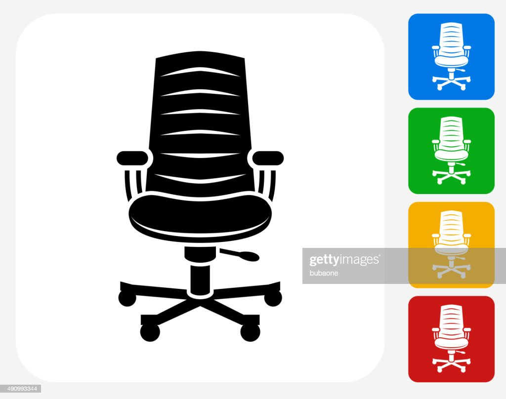 Office Chair Icon Flat Graphic Design